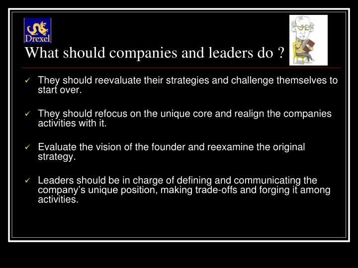 What should companies and leaders do ?