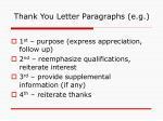 thank you letter paragraphs e g