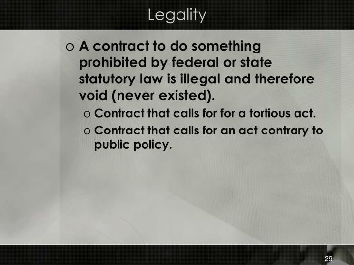 Legality