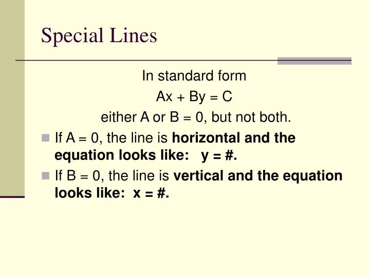 Special Lines
