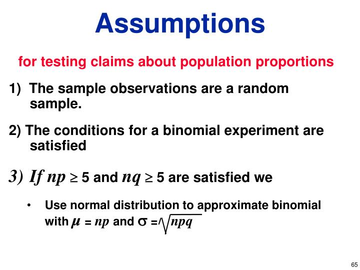 for testing claims about population proportions