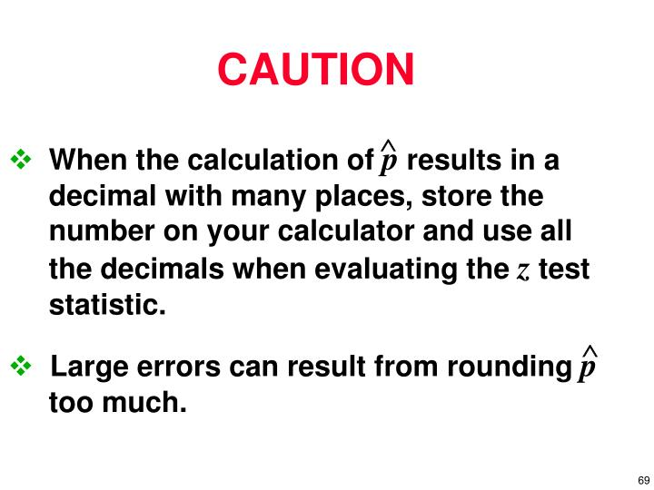 When the calculation of