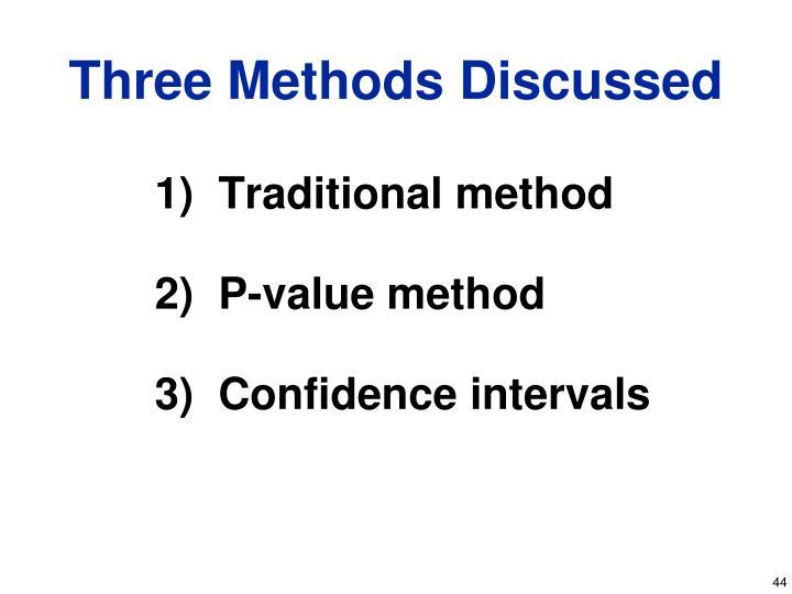 1)  Traditional method