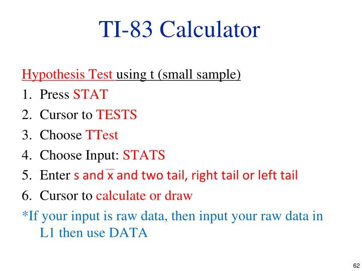 TI-83 Calculator