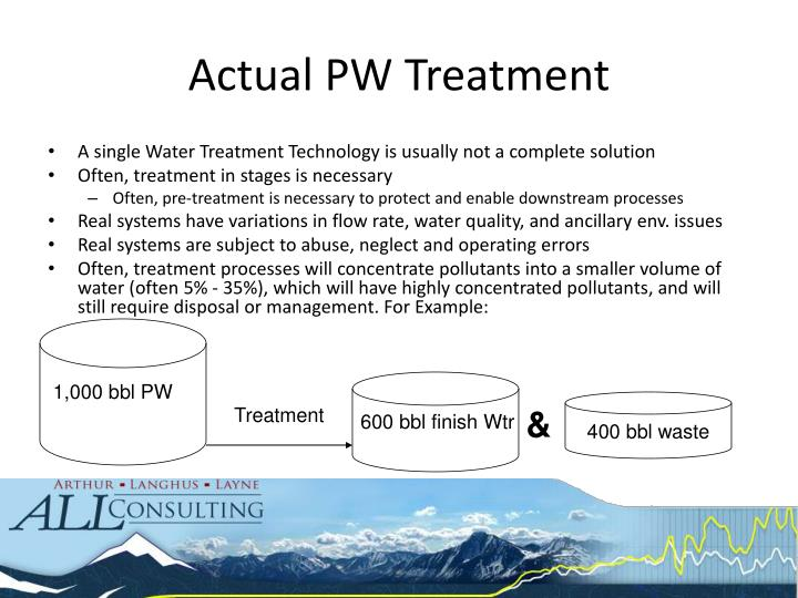 Actual PW Treatment