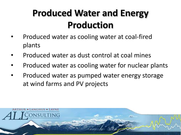Produced Water and Energy Production
