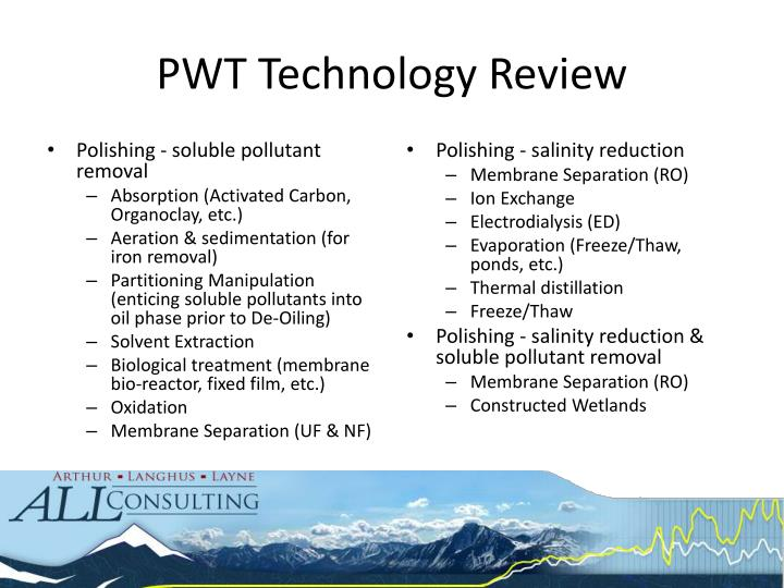PWT Technology Review