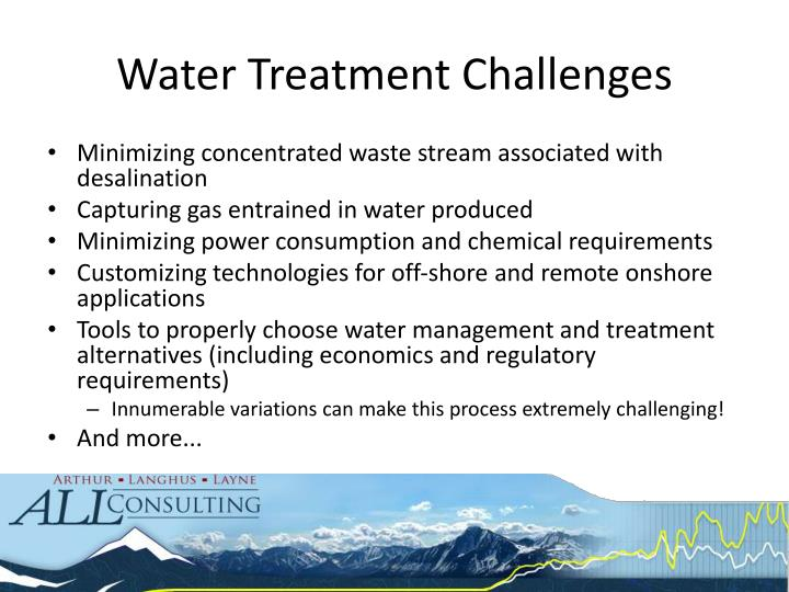 Water Treatment Challenges