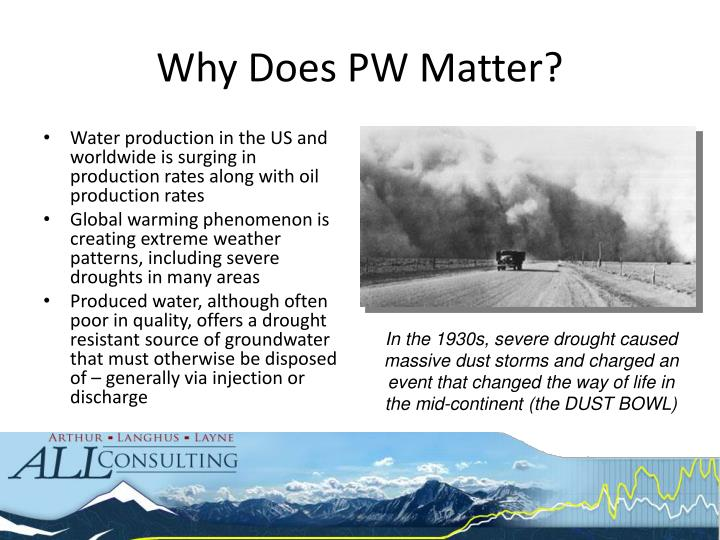 Why Does PW Matter?
