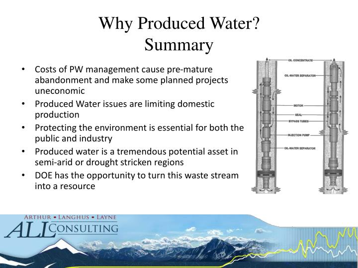 Why Produced Water?