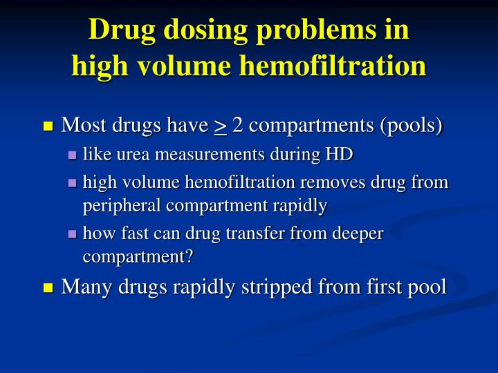 Drug dosing problems in