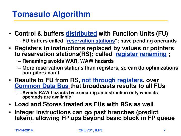 Tomasulo Algorithm