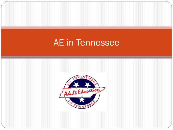 Ae in tennessee