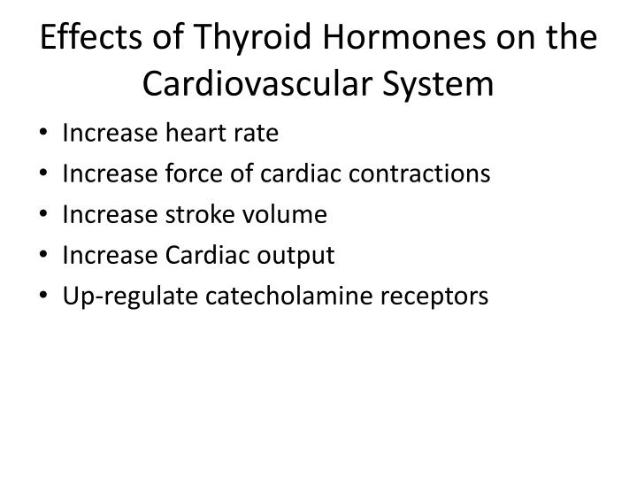 Effects of Thyroid Hormones on the Cardiovascular System