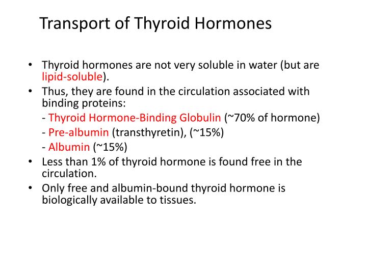 Transport of Thyroid Hormones