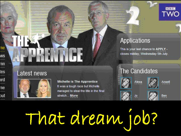 That dream job?
