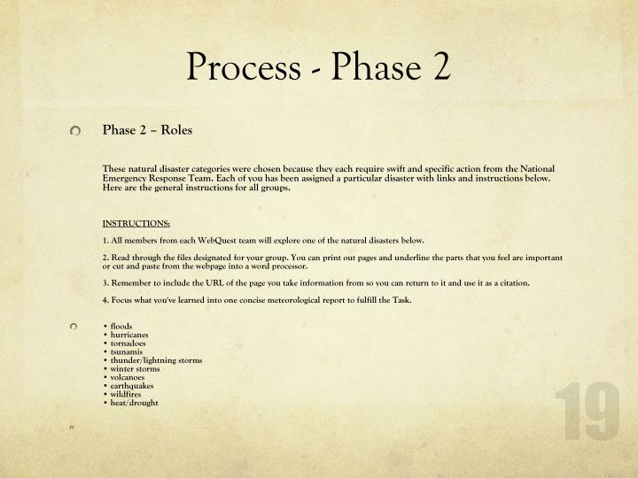 Process - Phase 2