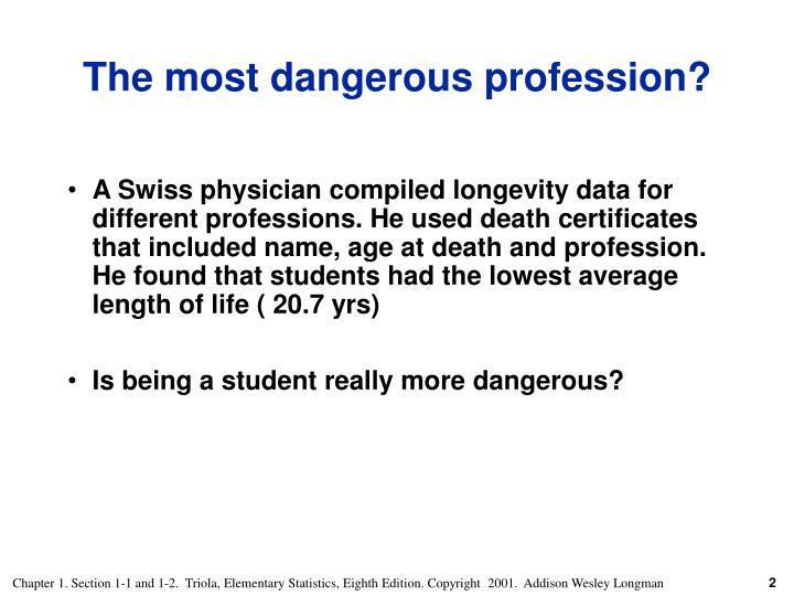 The most dangerous profession