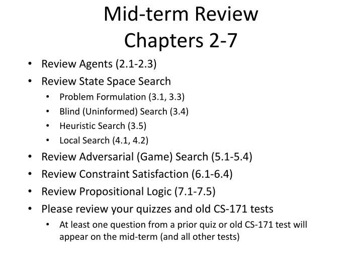 mid term review chapters 2 7 n.