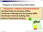 integrity of accounting information2