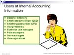 users of internal accounting information