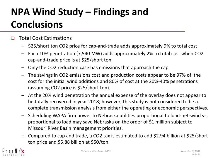 NPA Wind Study – Findings and Conclusions