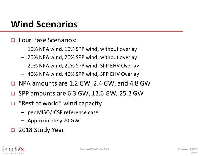 Wind scenarios