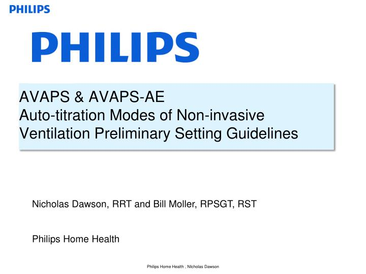 avaps avaps ae auto titration modes of non invasive ventilation preliminary setting guidelines n.