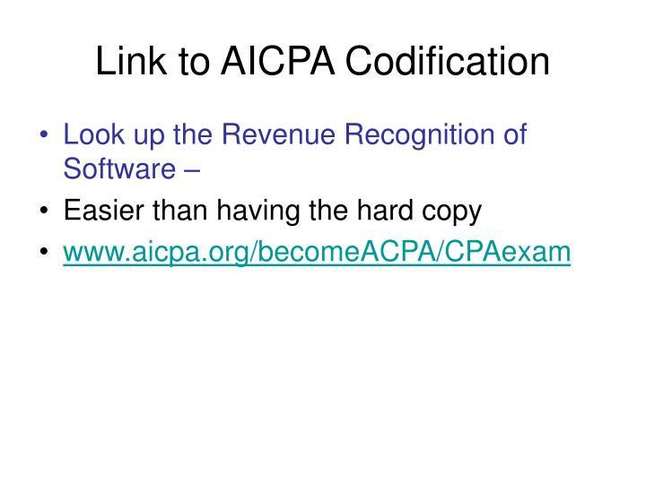 Link to AICPA Codification