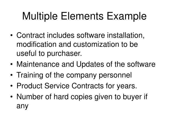 Multiple Elements Example