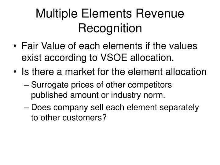 Multiple Elements Revenue Recognition