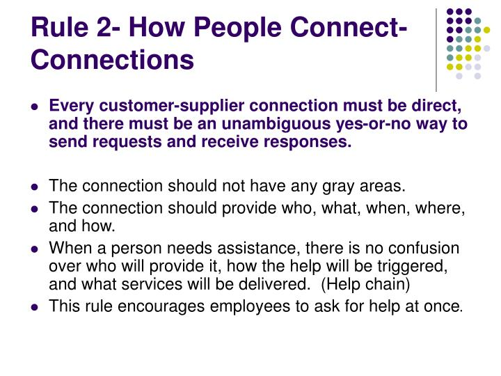 Rule 2- How People Connect-Connections