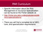 rmi curriculum