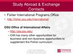 study abroad exchange contacts