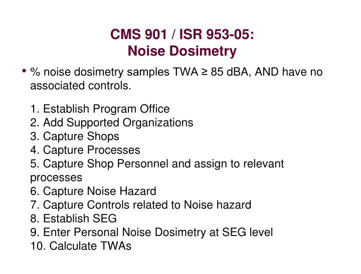 CMS 901 / ISR 953-05: