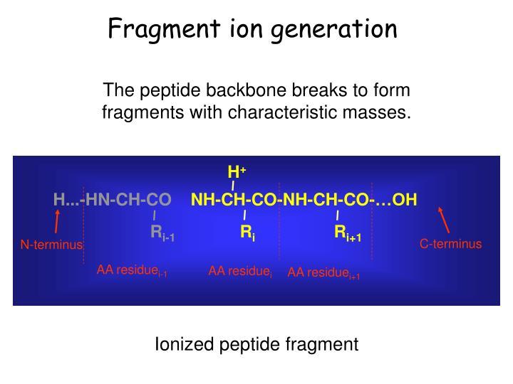 Fragment ion generation