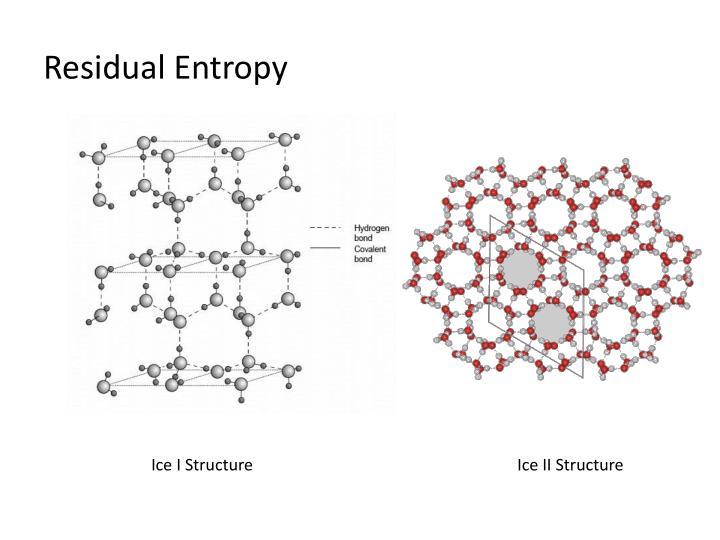 Residual Entropy