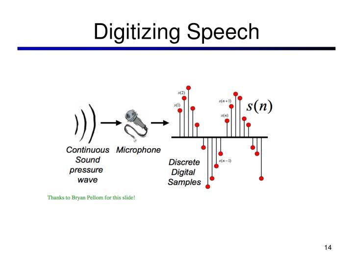 Digitizing Speech