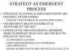 strategy as emergent process