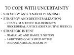 to cope with uncertainty