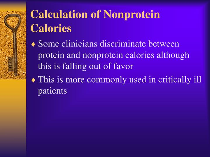 Calculation of Nonprotein Calories
