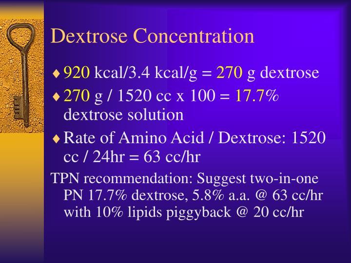 Dextrose Concentration