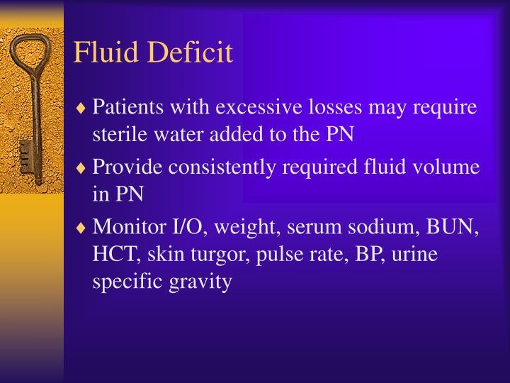 Fluid Deficit