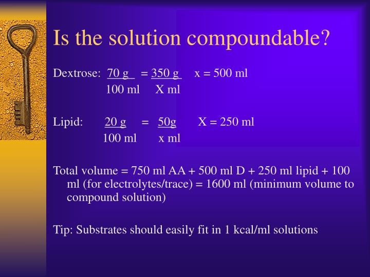 Is the solution compoundable?