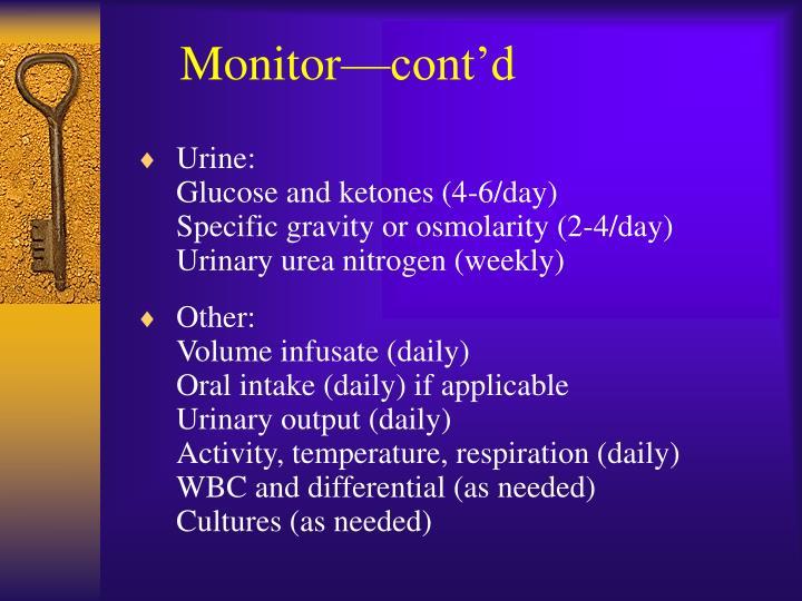 Monitor—cont'd