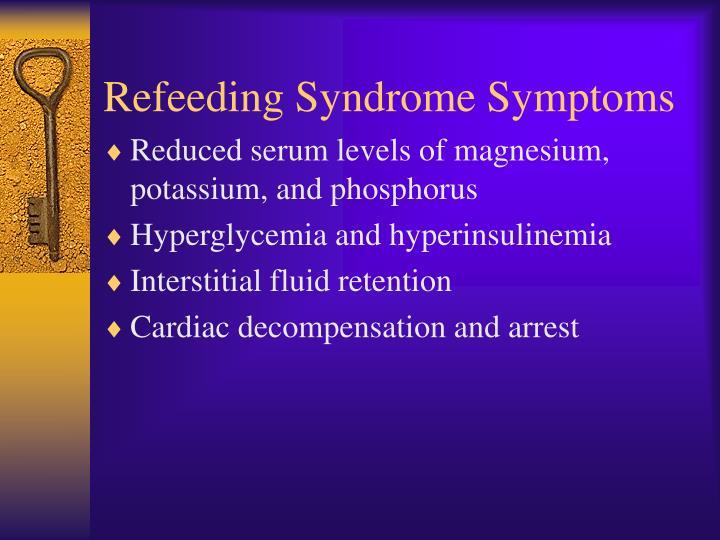Refeeding Syndrome Symptoms