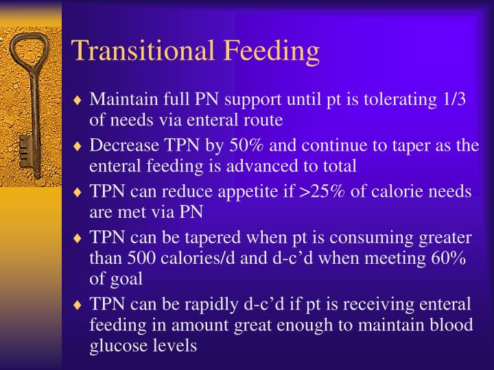 Transitional Feeding