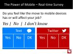 the power of mobile real time survey