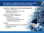 170 systems leading provider of solutions that automate and optimize financial processes