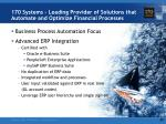 170 systems leading provider of solutions that automate and optimize financial processes2